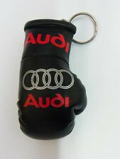 Audi mini Boxing glove KEYRING with Red Audi
