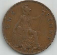GB 1936 GEORGE V  PENNY COIN good definition