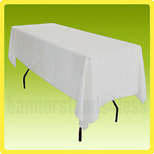 60x102 POLYESTER Rectangle Wedding Banquet Event Table Cover Tablecloth - WHITE