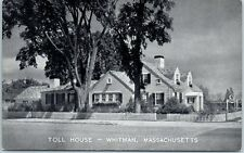 "Whitman, MA Postcard ""TOLL HOUSE"" Restaurant Roadside Front View c1940s Unused"