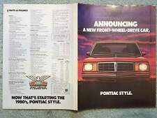 1980 PONTIAC PHOENIX COUPE BROCHURE FOLDOUT – ANNOUNCING A NEW FRONT WHEEL DRIVE