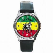 Rasta Jamaica Lion Jamaican Flag Reggae Colors Leather Watch New!