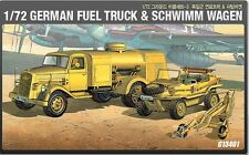 Academy 13401 Military 1/72 Plastic Model Kit German Fuel Truck & Schwimm Wagen