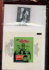 Munsters TV Show  Monster Trading Card .5c Wrapper Franesteins Family Leaf Gum