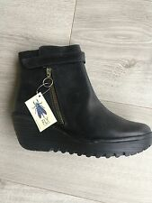 "FLY LONDON BOOTS NOIRES CUIR ""YAVA"" NVE BTE PTURE 39"