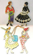MASQUERADE COSTUME CHRISTMAS ORNAMENT s Retro 1920's MINT SEALED Shackman