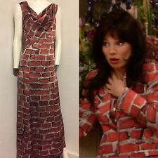 Rare Vintage 1997 Moschino Couture! Brick Wall Silk Dress S NWT
