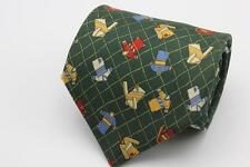 RYKIEL HOMME Tie. Green with Sports Jersey Futbol Soccer. Hand Made in France.