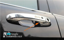 Door Handle Cover Trim WITH LOGO Smart Key Hole For Jeep Grand Cherokee 2014 15