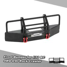 Metal Front Bumper with Trailer Buckle for 1/10 RC4WD D90 RC Rock Crawler A0M4
