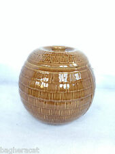 1930s Vintage McCoy HONEYCOMB Cookie Jar -- ORIGINAL LID