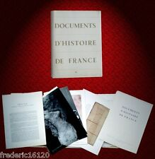 DOCUMENTS D'HISTOIRE DE FRANCE DOCUMENTATION FRANCAISE pédagogique planches