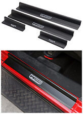 Aluminum Door Sills Plate Guards -Black for Jeep Wrangler JK 4 Door 2007-2016