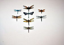 Dragonfly Magnets Insects Multi Color Set of 8 Reflections In Wildlife