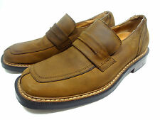 SKECHERS COLLECTION LOAFERS SHOES SIZE 9 M MEDIUM WIDTH MENS BROWN LEATHER