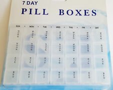 New 7 days Medicine Remind Pill Tablet Holder 4 Times a day Container Organiser