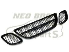 NEW SAAB 9-3 SPORT 03-07 BLACK MESH GRILLE GRILL KIT, 3 PIECE