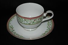 Mikasa Holiday Traditions Cup & Saucer NEW Set of Three
