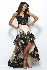 New Black High Low Evening Dress Party Prom Formal Celebrity Gown Custom Size