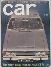CAR 05/1966 featuring Morris Cowley Coupe,Broadspeed Mini GT, Talbot 10/23 Coupe