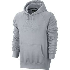 NEW MEN'S NIKE SB ICON REFLECTIVE PULLOVER HOODIE WOLF GREY SIZE  2XL 707741