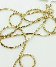 """14k Solid Yellow Gold Foxtail Square Box Wheat Necklace Chain 20"""" 0.8mm"""