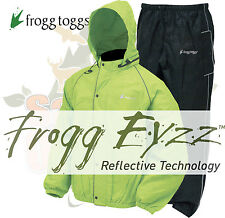 Frogg Toggs Road Toads Reflective Motorcycle Rain gear Toad suit Hi-Vis Green XL