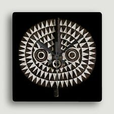 Bobo Bwa Sun Mask ~ SQUARE WALL CLOCK / Compelling African Art Design