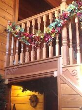 Frontgate Falling Leaves Autumn Fall Harvest Mantel Garland Berries Vines 6'