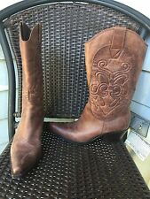 PENNY Loves KENNY Cowboy Western BOOTS Size 7 Brown HIGH NOON