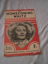 Homecoming Waltz by Musel, Sonin & Connelly music sheet (Ivy Benson & her band)