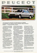 1982 Peugeot 505 Diesel Sedan - Original Car Advertisement Print Ad J154