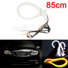 85cm Audi Style Switchback DRL Headlight LED Strip Light Flexible White Amber