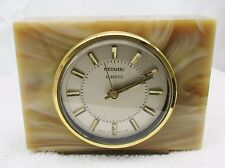 Vintage Retro 60s 70's Onyx Marble Effect Quartz Metamec Mantle Clock