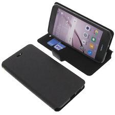 Tasche für Huawei Nova Smartphone Book-Style Schutz Hülle Handytasche Schwarz