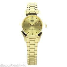 Casio LTP1128N-9A Ladies Gold Tone Stainless Steel Casual Dress Watch NEW