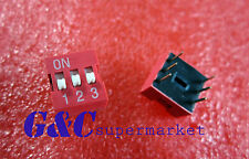 10PCS Red 2.54mm Pitch 3-Bit 3 Positions Ways Slide Type DIP Switch GOOD QUALITY