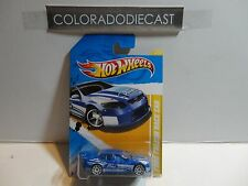 2012 Hot Wheels #4 Blue Ford Falcon Race Car w/White 10 Spoke Wheels