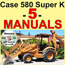 Case 580 Super K 580SK Service Manual Operators Parts Manual LOT MANUALS PDF CD