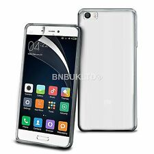 Transparent Clear Silicone Slim Gel Case And Screen Protector For Xiaomi Mi 5
