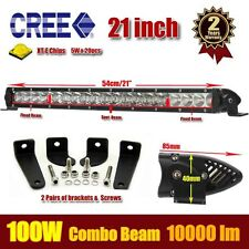 21inch 100W LED LIGHT BAR OFFROAD DRIVING LAMP WORK SUV ATV CAR 4WD JEEP 4x4 Atv