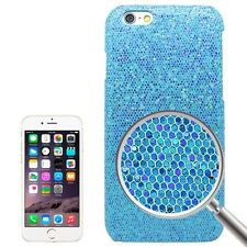 FUNDA IPHONE 6S 4.7 CARCASA DIAMANTES FALSOS PERLAS BLING AZUL