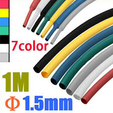 NEW 1M 1.5MM 2:1 Polyolefin Heat Shrink Tubing Wire Electrical Sleeve Cable Wrap