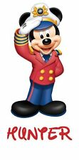 DISNEY FAMILY CRUISE MICKEY SAILOR  PERSONALIZED FABRIC/T-SHIRT IRON ON TRANSFER