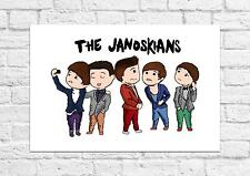 The Janoskians - Group Cartoon Poster - Art Print - A4 Size