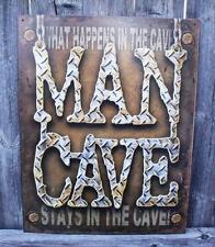 Sign Man Cave What Happens In The Cave Stays In The Cave Metal Nostalgic New