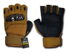 US Half Finger Army Military Knuckle Special Forces Handschuhe Gloves coyote S