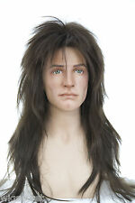 Chestnut Brown Brunette Long Straight Costume Wigs Men Wig