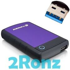 Transcend StoreJet 1TB 1000GB USB 3.0 Mobile External Hard Drive 2.5 25H3P Rough