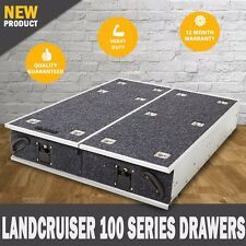 NEW Landcruiser 100 Series Rear Storage Drawers Fridge Slide 4wd Drawer System